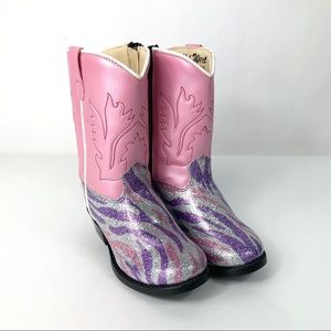 Old West Cowgirl Boots Toddler Girls Size 5